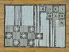 One-of-a-Kind Beverly Undyed Natural Hand-Knotted Wool Area Rug
