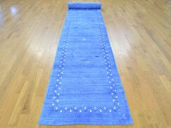 One-of-a-Kind Becker Handwoven Blue Wool/Silk Area Rug