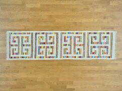 One-of-a-Kind Botkin Geometric Design Handmade Kilim Wool Area Rug