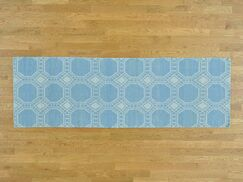 One-of-a-Kind Bottomley Reversible Handmade Kilim Blue Wool Area Rug