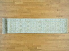 One-of-a-Kind Bearer Hand-Knotted Ivory Wool Area Rug