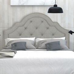 Wilfred Queen Upholstered Panel Headboard Upholstery: Light Gray