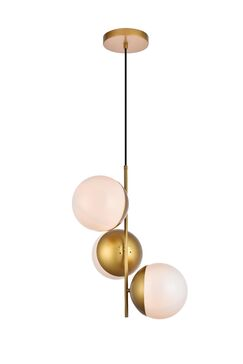 Gilberto 3-Light Novelty Pendant Finish: Brass, Shade Color/Pattern: Frosted White