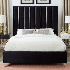 Dietrich Full/Double Upholstered Platform Bed Color: Black, Size: King