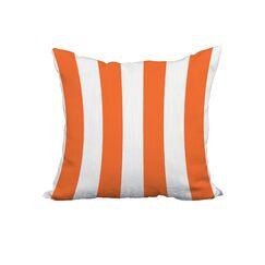 Odysseus Stripe Print Throw Pillow Size: 18