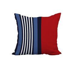 Hillary Stripe Print Throw Pillow Size: 22