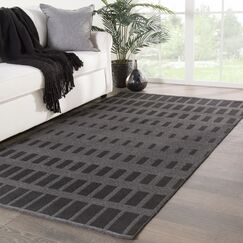 Geometric Jaipur Living Vaise Handwoven Flatweave Gray Indoor/Outdoor Area Rug Rug Size: Rectangle 2' x 3'