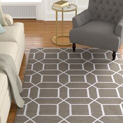 Larksville Charcoal/Ivory Indoor/Outdoor Area Rug Rug Size: Rectangle 9' x 13'