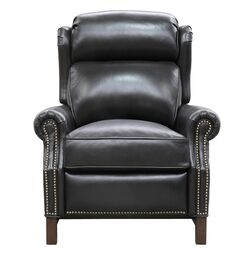 Means Leather Power Recliner Upholstery: Shoreham Fudge