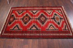 One-of-a-Kind Traditional Geometric Tribal Foyer Balouch Persian Hand-Knotted 4'3
