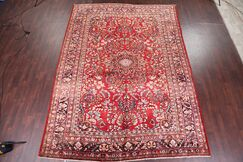 One-of-a-Kind Floral Lilian Sarouk Vintage Persian Hand-Knotted 9'8
