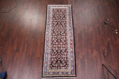 One-of-a-Kind Vintage All Over Floral Bakhtiari Persian Hand-Knotted 3'8