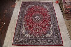 Northcutt Soft Plush Floral Kashmar Persian Navy Blue/Red/Beige Area Rug