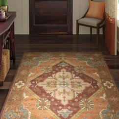 Ezell Rust Area Rug Rug Size: Rectangle 4' x 6'