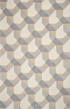 Patillo Hand-Tufted Wool Ivory/Gray Area Rug Rug Size: Rectangle 8' x 10'6
