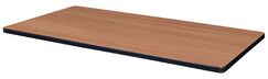 Marrone Rectangle Laminate Table Top Color: Cherry/Maple, Size: 1