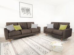 Cordell Tufted 2 Piece Living Room Set Upholstery: Brown