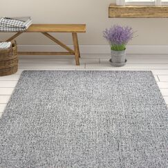 Marsh Hand-Tufted Wool Black/White Area Rug Rug Size: Rectangle 10' x 14'