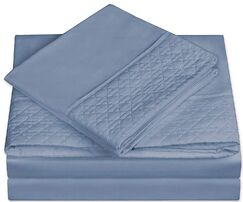 Greenpoint Soft Coziest 1500 Thread Count Sheet Set Color: Denim Blue, Size: Full