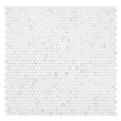 Cooper 1'' x 1'' Marble Mosaic Tile in White