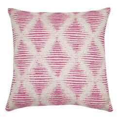 Kinney Embroidered Geometric Throw Pillow Color: Berry
