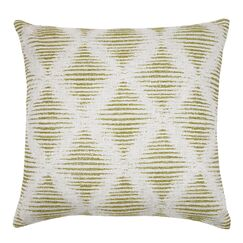 Kinney Embroidered Geometric Throw Pillow Color: Lime