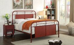 Mcwilliams Metal Panel Bed Size: King, Color: Red