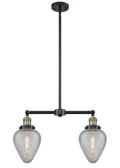 Bontrager 2-Light Kitchen Island Pendant Bulb Type: Incandescent, Finish: Black Antique Brass