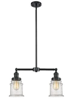 Greeley 2-Light Kitchen Island Pendant Shade Color: Clear, Bulb Type: Incandescent, Finish: Oil Rubbed Bronze