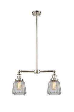 Vinson 2-Light Kitchen Island Pendant Bulb Type: LED, Shade Color: Mercury Plated, Finish: Polished Nickel