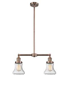 Nardone 2-Light Kitchen Island Pendant Shade Color: Seedy, Bulb Type: Incandescent, Finish: Antique Copper