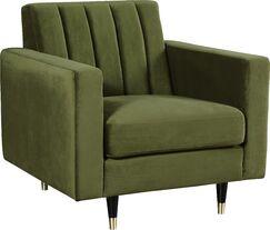 Conn Velvet Armchair Upholstery: Olive