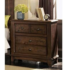 Samuels Wood 4 Drawer Nightstand