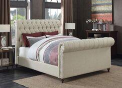 Patel Upholstered Panel Bed Color: Beige, Size: King