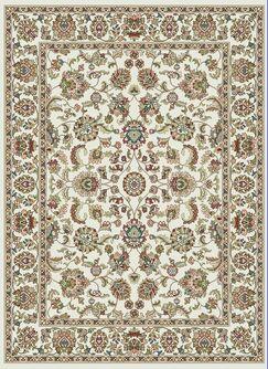 Palacios Traditional Cream/Green Area Rug Rug Size: Rectangle 7'10