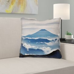 Hashimoto A View of Mt. Fuji Indoor Throw Pillow Size: 18