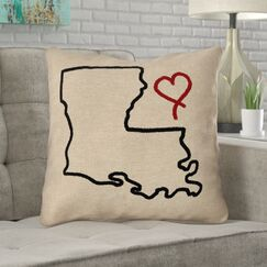Austrinus Louisiana No Zipper Outdoor Throw Pillow Size: 16