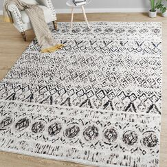 Roth Distressed Gray Area Rug Rug Size: Rectangle 6'5'' x 9'