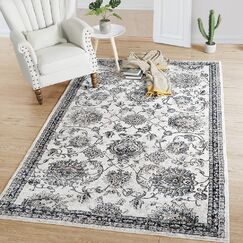Bryant Distressed Gray Area Rug Rug Size: Rectangle 5' x 8'