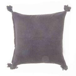 Jacksonport Velvet Throw Pillow Color: Gray