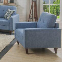 Curran Armchair Upholstery: Blue