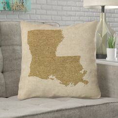 Austrinus Louisiana Outdoor Throw Pillow Size: 20