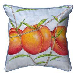 Princess Peaches Indoor/Outdoor Throw Pillow Size: 18