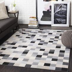 Ashlee Geometric Light Gray/Taupe Area Rug Rug Size: Rectangle 7'10