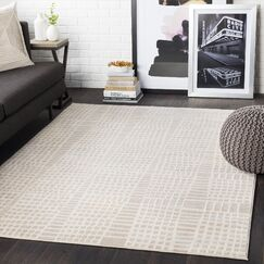 Bahr Abstract Beige/Khaki Area Rug Rug Size: Rectangle 7'10