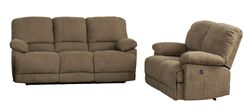 Condron Reclining 2 Piece Living Room Set Upholstery: Brown
