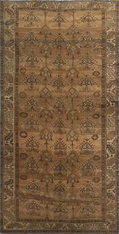 One-Of-A-Kind Brook Hand-Knotted Wool Brown Area Rug