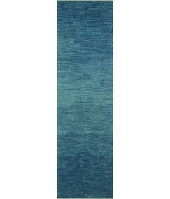 Dickie Hand-Knotted Wool Blue Area Rug Rug Size: Runner 2'10