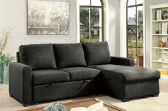 Blank Sleeper Sectional Upholstery: Dark Gray