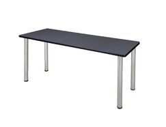 Leiser Training Table Tabletop Finish: Gray, Base Finish: Chrome, Size: 29